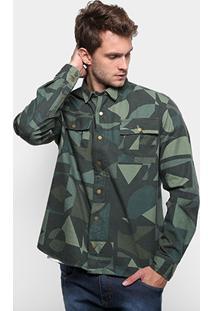 Camisa Reserva Estampada Ipiranga Masculina - Masculino-Verde Militar