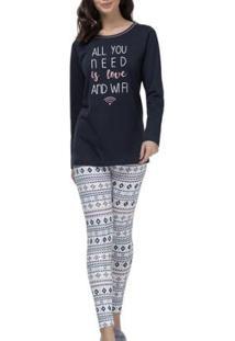 Pijama Espaço Pijama Feminino - Feminino