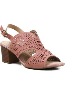Sandália Feminina Casual Cut Out Dakota Salto Grosso