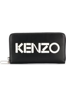 Kenzo Carteira De Couro Monocromática - Preto