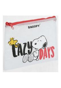 Necessaire Feminina Estampada Snoopy