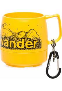 And Wander Caneca Com Logo Dinex - Amarelo