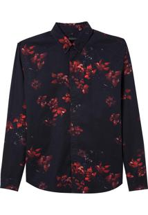 Camisa Red Flowers (Estampado, Gg)
