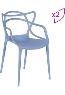 Jogo De Cadeiras De Jantar Solna- Azul- 2Pã§S- Oror Design
