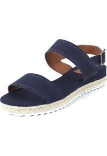 Anabela Flats&Co Lona Corda Azul
