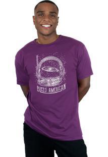 Camiseta Bleed American Galaxy Roxo