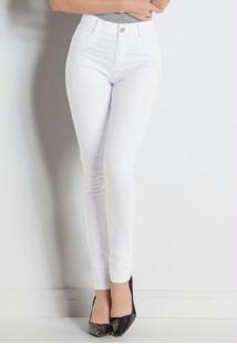919d66ade ... Calça Hot Pant Branca Sawary Com Cintura Alta