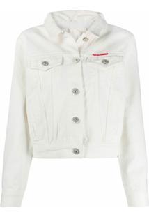 Pushbutton Jaqueta Jeans Slim - Branco