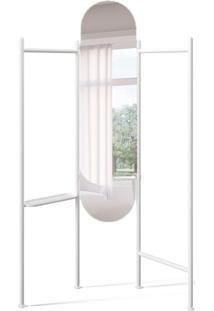 Espelho Com Cabideiro Floor Branco