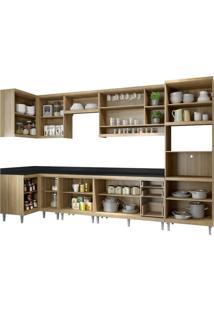 Cozinha Compacta Multimóveis Sicília 5831.132.815.132.610 Argila Se