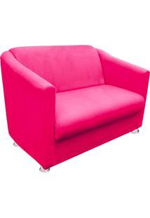 Namoradeira Decorativa Tilla 2 Lugares Suede Rosa Barbie - D'Rossi