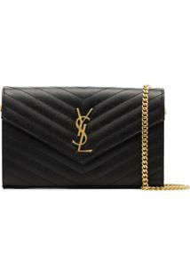 Saint Laurent Carteira 'Monogram' - Preto