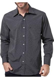 Camisa Manga Longa Masculina Di Marcus Preto