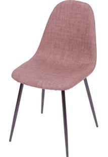 Cadeira Robin Linho Marrom Com Base Preta - 43087 Sun House