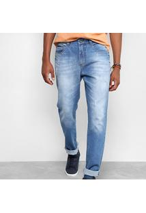 Calça Jeans Slim Drezzup Estonada Puídos Masculina - Masculino