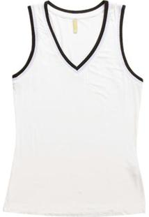 Blusa Sem Manga Em Viscose Branco