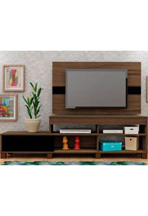 Rack Com Painel Ever - Artely - Amendoa / Preto