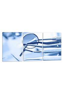 Quadro Oppen House 60X120Cm Decorativo Interiores Odontológico Kit Dentistas