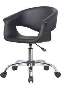 Cadeira Celina Base Rodizio Cor Preta - 29956 - Sun House