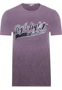 Camiseta Masculina Degrade High Light - Roxo E Rosa