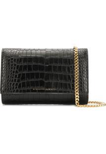 Giuseppe Zanotti Crocodile Style Clutch Bag - Preto