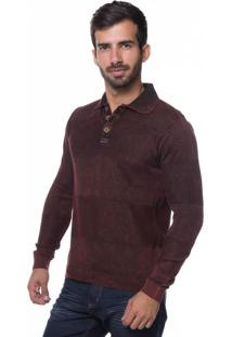 Camisa Polo Links Le Tisserand Vermelho Stoned