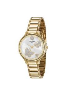 Kit Relógio Mondaine Analógico 5Atm + Semijoia | Mondaine | Dourado | U