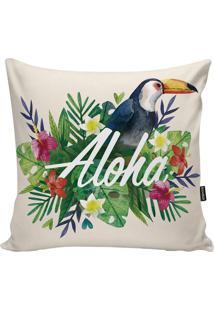 Capa De Almofada Tropical- Verde & Azul- 45X45Cmstm Home