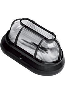 Luminária Tartaruga Em Polipropileno Clean 22Cm Preta