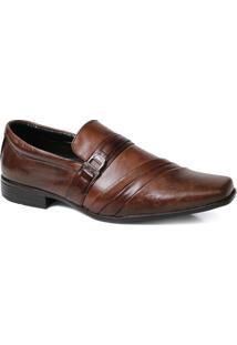 Sapato Social Masculino Fivela Em Couro - Masculino-Marrom
