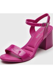 Sandã¡Lia Petite Jolie Verniz Pink - Pink - Feminino - Pvc - Dafiti