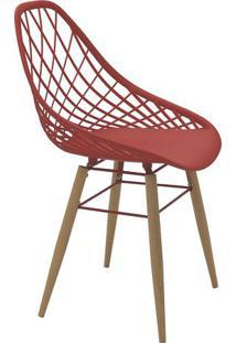 Cadeira Philo- Vermelho Escuro & Marrom- 82X63X55,5Ctramontina
