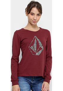 Camiseta Manga Longa Volcom Silk Daisy For You Feminina - Feminino