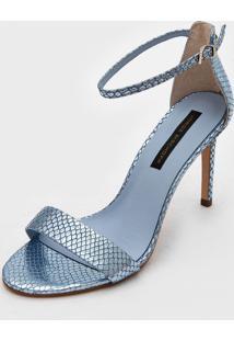 Sandália Jorge Bischoff Metalizada Azul