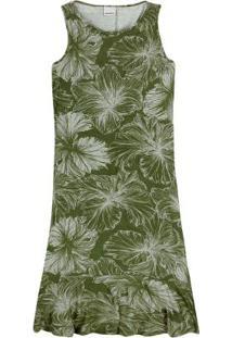 Vestido Verde Musgo Peplum Curto Malwee