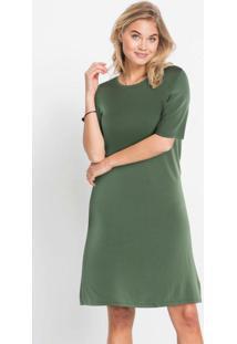 Vestido Básico Reto Verde