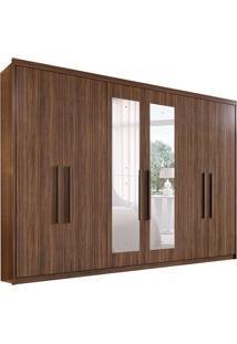 Guarda-Roupa Casal Com Espelho Aries 6 Pt 4 Gv Imbuia