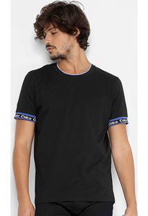 Camiseta Coca-Cola Gola Com Frisos Masculina - Masculino