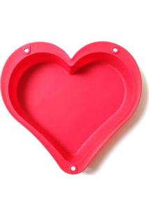 Forma De Bolo Le Love Silicone 26Cm Vermelha