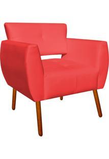 Poltrona Decorativa Josy Corino Vermelho Pã©S Palito - D'Rossi - Vermelho - Dafiti