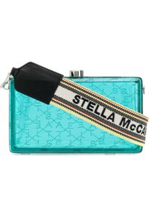 Stella Mccartney Clutch Com Logo - Azul