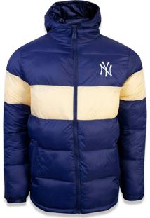 Jaqueta New Era Puffer New York Yankees Marinho/Amarelo