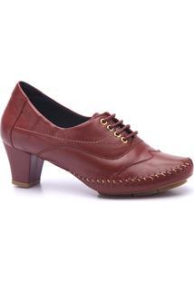 Sapato Feminino Em Couro Doctor Shoes - Feminino-Vermelho