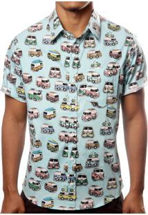 Camisa Camaleão Urbano Kombi Azul