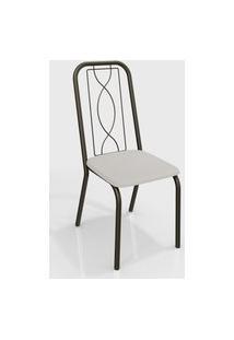 Cadeira Viena Bronze/Branco (Par) Kappesberg
