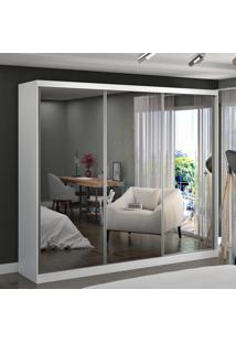 Guarda-Roupa Casal 3 Portas Com 3 Espelhos 100% Mdf 5393E3 Branco - Foscarini