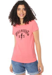 Camiseta Billabong Rock Billa Rosa