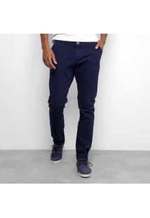 Calça Sarja Skinny Rock Blue Com Bolso Faca Masculina - Masculino