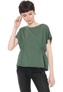 Blusa Colcci Drapeada Verde