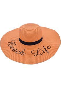 Chapéu De Praia Bali Beach Com Beach Life Laranja